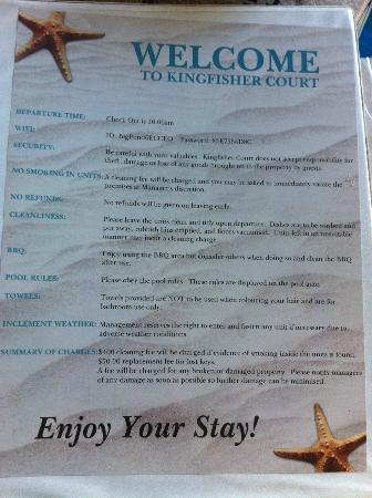 Kingfisher Court: House Rules!