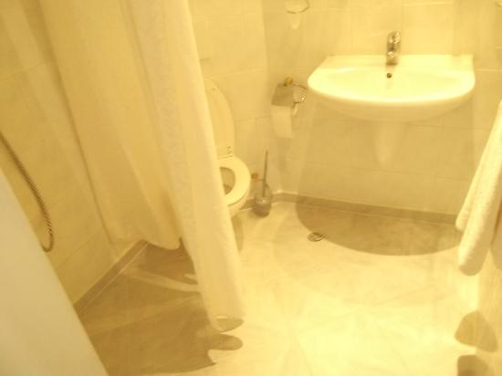 Hotel Astoria Palace: No tub for shower... so better sit on the WC and take the shower...