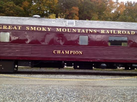 Great Smoky Mountains Railroad: our cab