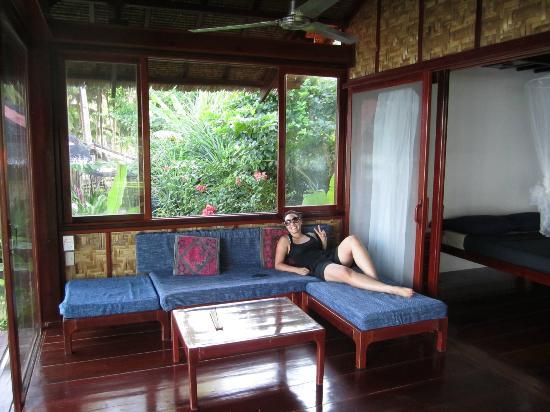 Greenhouse veranda -- great for lounging