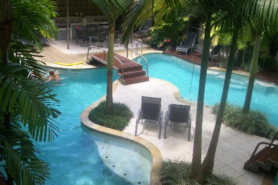 Shantara Resort  Port Douglas: view from our balcony to the pool area