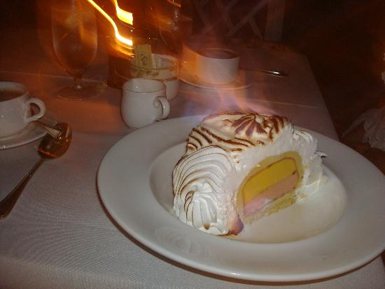 Little Palm Island Resort & Spa, A Noble House Resort: Baked Alaska for dessert