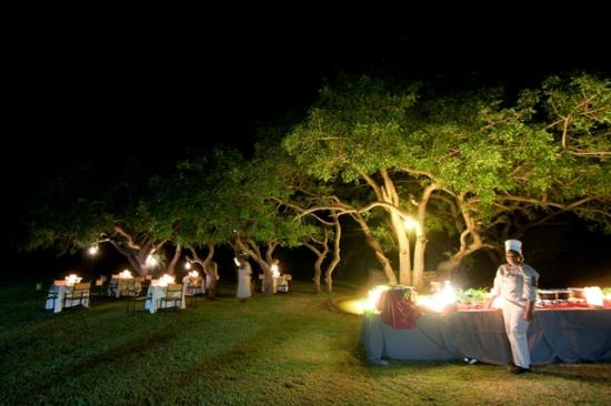 Zululand Safari Lodge: Buffet Dinner served on Safari Lodge's Lawns