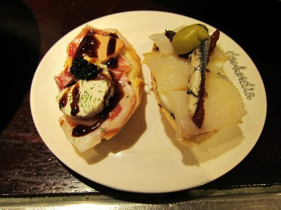 Desberdin: the 2 pintxos in the contest