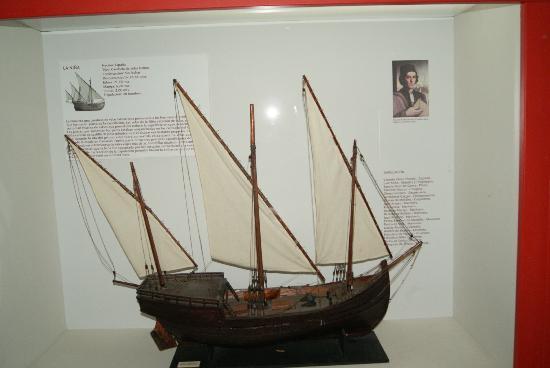 Muelle de las Carabelas: en el museo