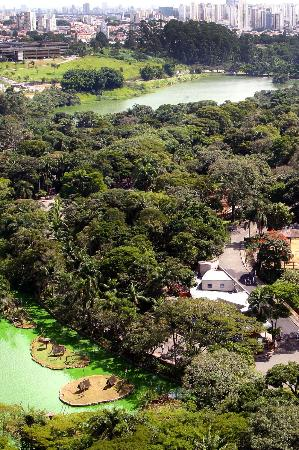 Vista aérea do Zoológico de São Paulo