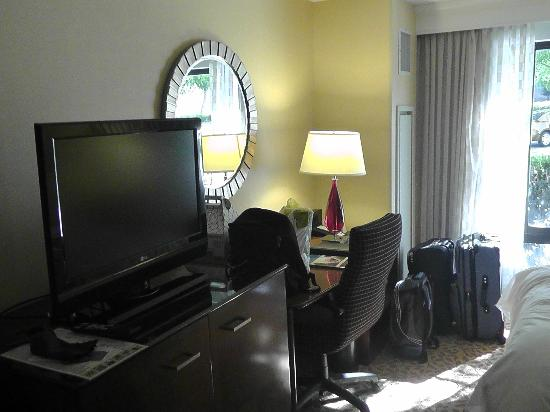 Pleasanton Marriott: Zimmer ohne Kühlschrank