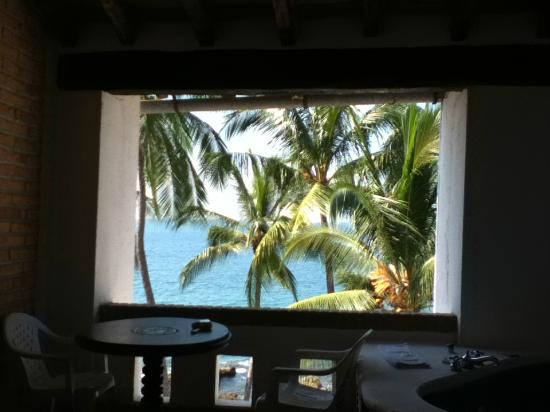 Playa Conchas Chinas: view from rm 401