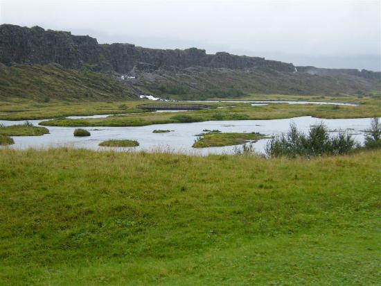 Thingvellir National Park: View at Thingvellir from eastern side of river