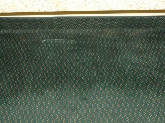 Knights Inn Independence : Carpet stained
