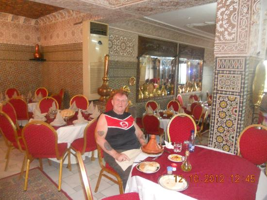 Myself having lunch at Palais Terrab