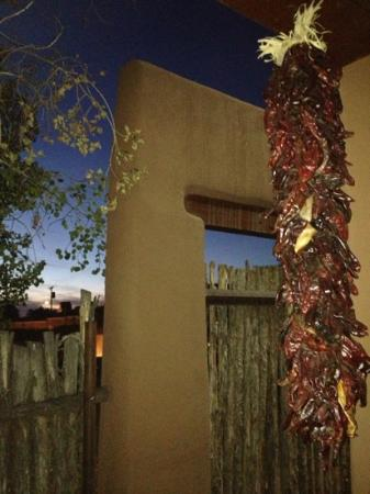 Inn on the Alameda: our patio at sunset