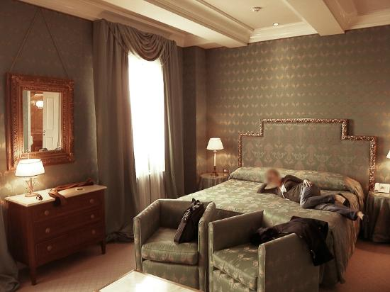 Bauer Hotel: the bed area