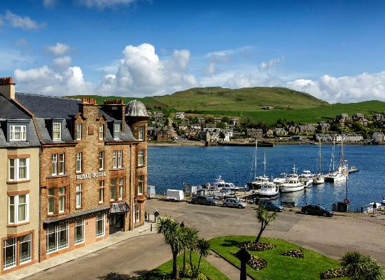 The Royal Hotel: View of Campbeltown Harbour