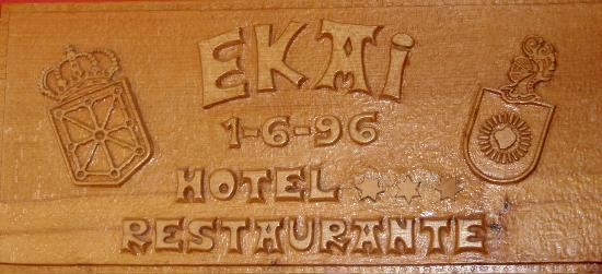 Hotel Ekai: TALLA CONMEMORATIVA