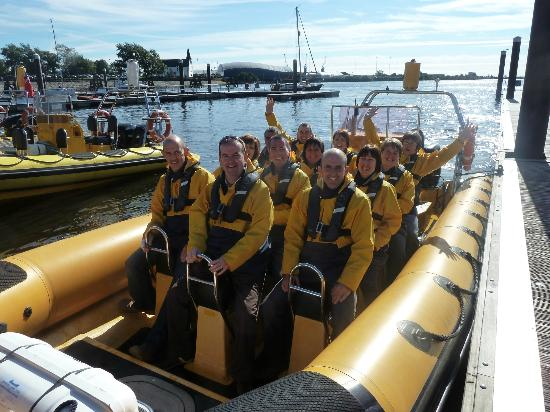 Cardiff Sea Safaris: 12 of us - ready for an adventure.