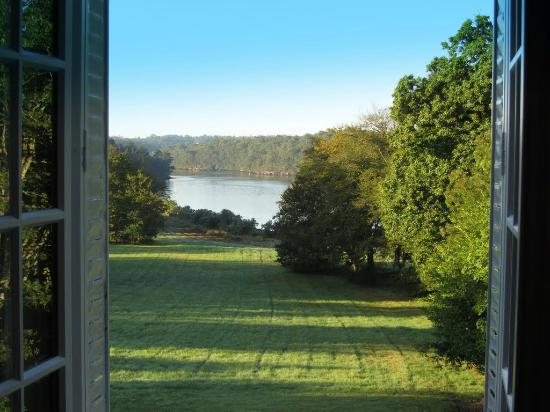 Manoir de Lanroz : view from the bedroom