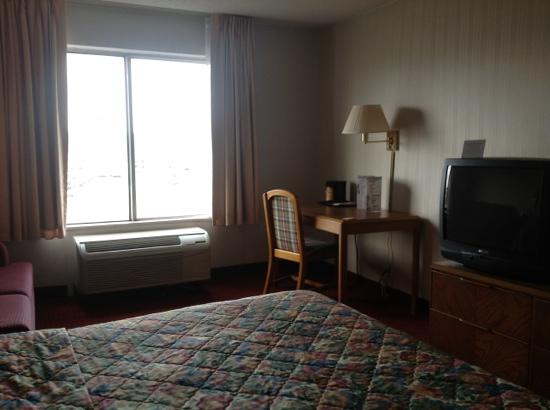 Howard Johnson Romulus Detroit Metro Airport: King room on 3rd floor.