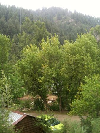 Lightner Creek Campground: view from cabin