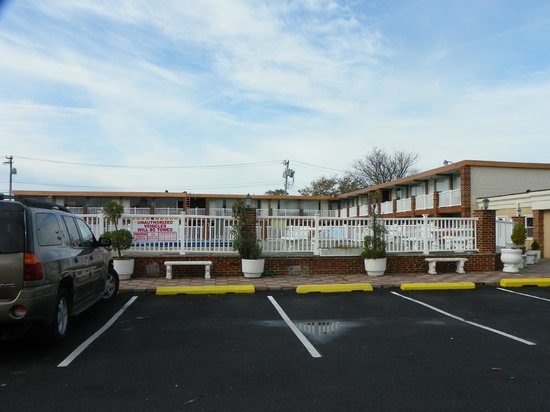 Knights Inn Atlantic City:                   From the parking lot