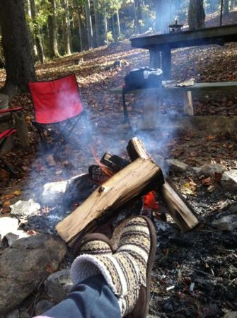 Cabin Fever : sitting by the campfire