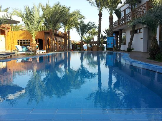 Acacia Dahab Hotel: View from behind the pool