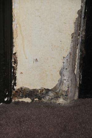 Ballantrae Albany Hotel: Nasser Boden und nasse Wand