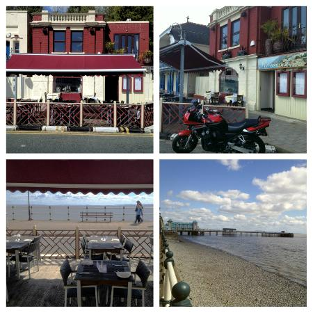 Penarth, UK: Romeo's resturant view