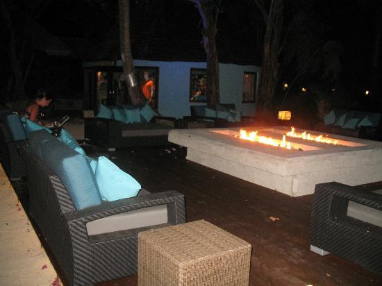 Sandals Grande Antigua Resort & Spa: New firepits caribbean village