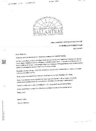 Ballantrae Albany Hotel: Die Erklärung des Hotels