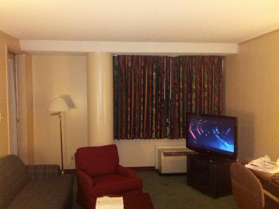 "Garfield Suites Hotel: The main ""living"" room."