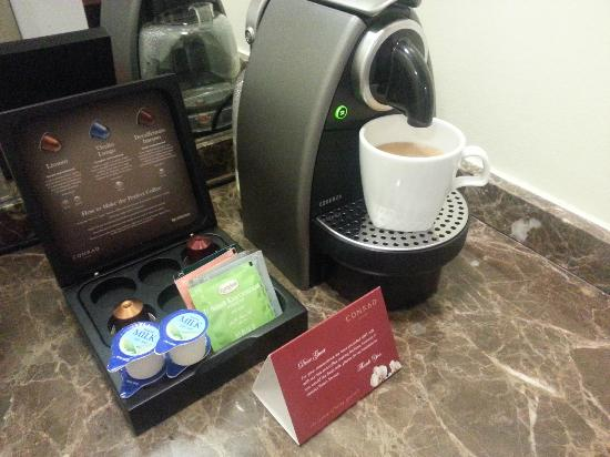 Conrad Dublin: The in-room Nespresso - lovely!