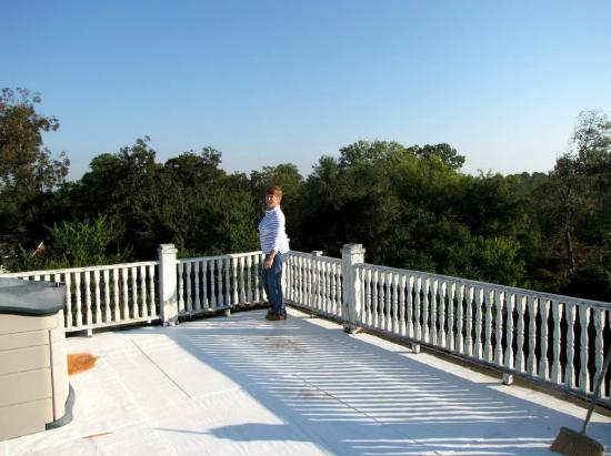 Page House Bed and Breakfast : Widows walk on roof
