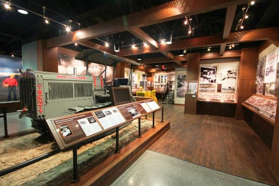 Peoria, IL: A view of the Heritage Gallery at the Caterpillar Visitors Center