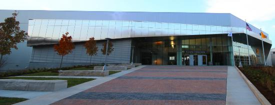 The front of the Caterpillar Visitors Center
