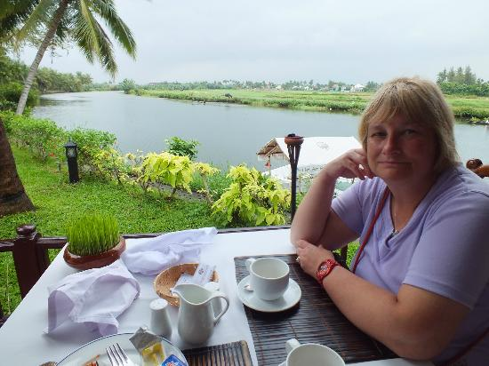 Hoi An Riverside Resort & Spa: VIEW FROM BREAKFAST TABLE..!