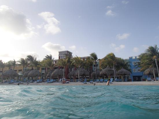 Renaissance Curacao Resort & Casino: View from the pool to the hotel