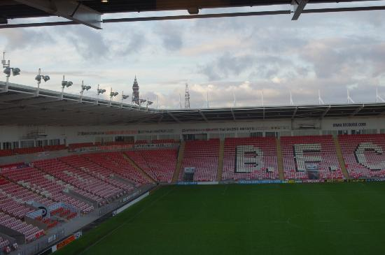 Blackpool FC Hotel: Our view from room 326