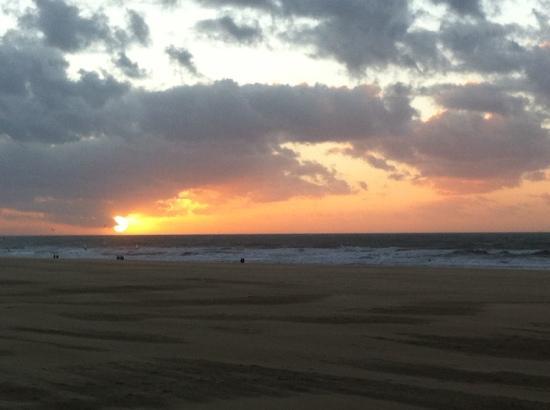 Parkhotel Den Haag: solnedgang på Scheeveningen