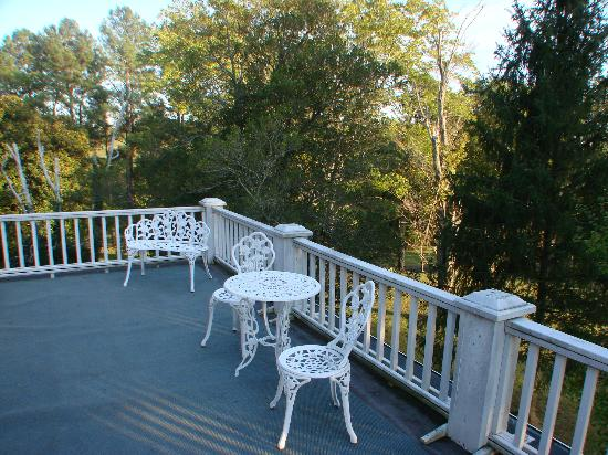 Speed the Plough Bed and Breakfast: Lovely views from decks & patios