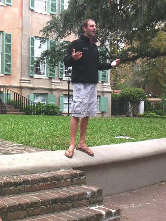 College of Charleston: Informative & enthusiastic C-40 (campus tour guide)