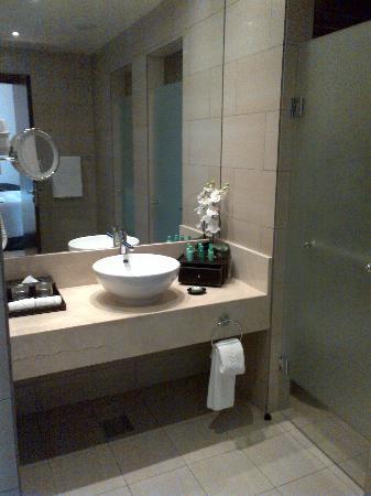 Ramada Abu Dhabi Downtown: Main bathroom