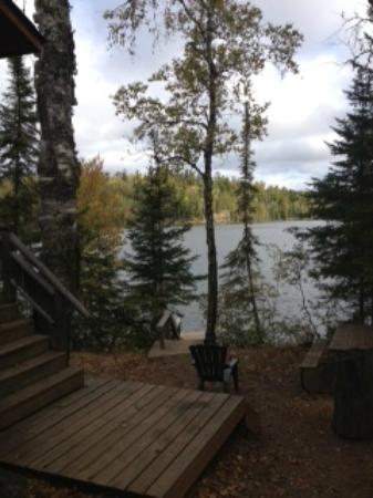 Clearwater Historic Lodge: View from cabin of Clearwater Lake