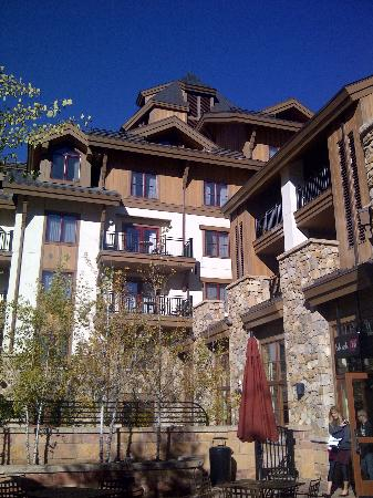 The Sebastian - Vail: the hotel from the patio