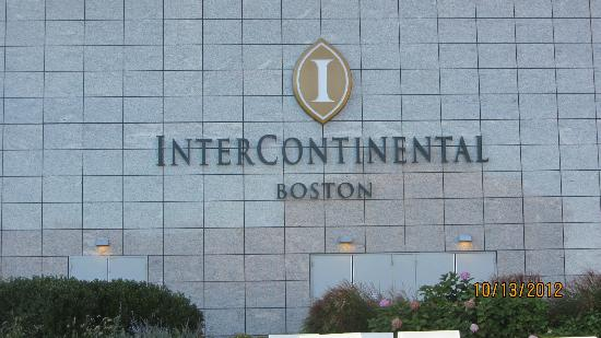 InterContinental Boston: outside sign