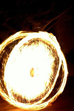Bamboo Beach Bar Cafe & Restaurant: fireshow