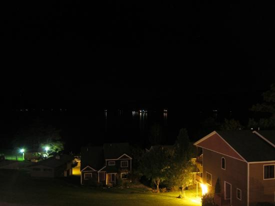 The Inn at Erlowest: View from second floor balcony at night