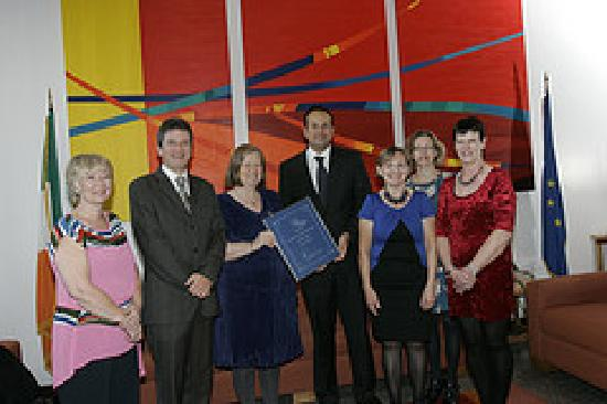 The Heron's Cove: Sue and the Team receive their AA Award from Minister Leo Varadkar
