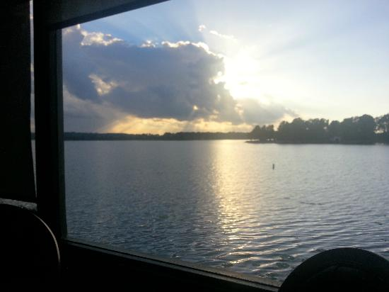 Mariner's: Sunset over Sibley Lake from our window table.