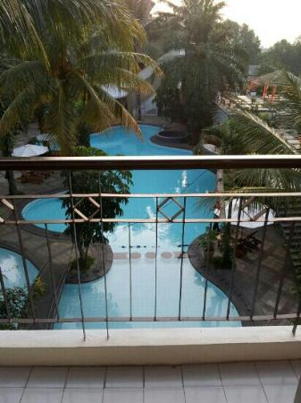The Jayakarta Suites Bandung, Boutique Suites, Hotel & Spa: view from room terrace facing the main pool. room 7204